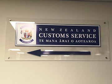Customs Signage