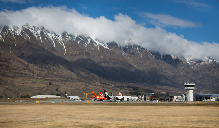 Planes at Queenstown Airport